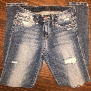 Joe's Jeans Distressed Skinny Ankle Mid Wash 25